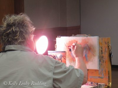 Jan Martin McGuire, texas, texas longhorn, acrylic painting, TexArt