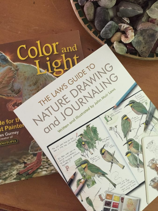 reading, art books, journaling, painting
